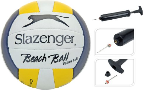 Slazenger Beach Volleyball Slazenger Größe 4 Ballpumpe Pumpe Volley-Ball Beach Ball