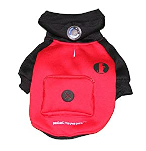 Protect Me Alert Series Sweatshirt and Bag Dispenser Set with Cold Alert Patch for Dogs, Medium, Black