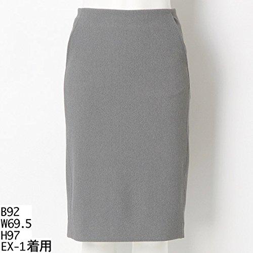 ロペ(トールサイズ)(ROPE(TALL SIZE)) 【トールサイズ】リップルウエストゴムタイトスカート【07グレー/EX2(13号相当)】
