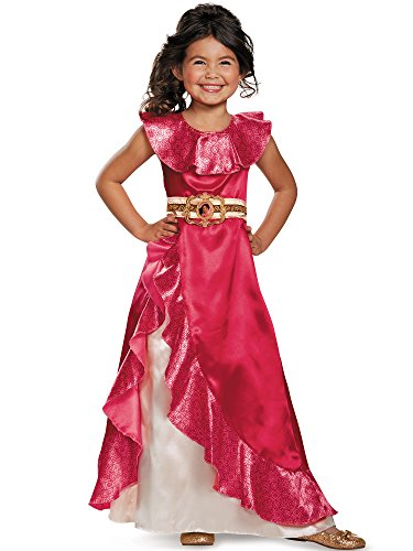 Disguise Elena Adventure Dress Classic Elena of Avalor Disney Costume, Medium/3T-4T