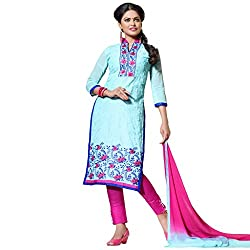 Pari Presents Blue Coloured Dress Material