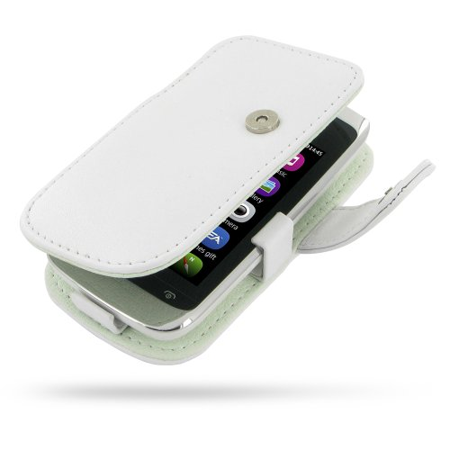 Nokia Asha 308 309 Leather Case - Book Type (White) by PDair