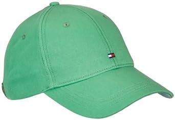 Tommy hilfiger - classic - casquette visière - uni - homme - vert (ming green) - taille unique