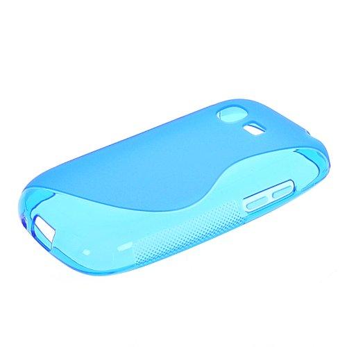 MOONCASE S-Line Silikon Tasche Schutzhülle Etui Case Cover TPU Hülle Schale für Samsung Galaxy Pocket Neo S5310 Blau