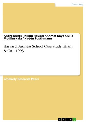 tiffany and co 1993 harvard case presentation