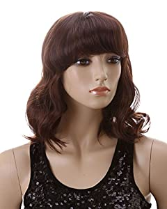 Cool2day Women's Short Curly Wig+wig Cap (Model: Jf010190) (Dark Brown) by Cool2day