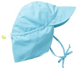 i play. Baby Flap Sun Protection Swim Hat, Aqua, 9-18 Months