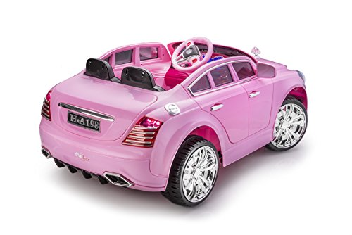 sportrax limited edition maybach style luxury kids ride on car battery powered remote control wfree mp3 player pink little kid cars