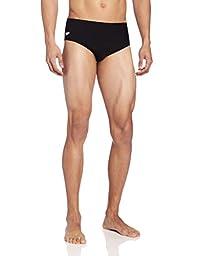 Speedo Men\'s Endurance+ Solid Brief Swimsuit, Black, 36