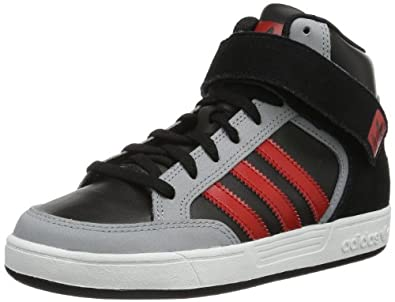 adidas Originals Varial Mid J-4 G98154, Unisex - Kinder Sneaker, Schwarz (BLACK 1/LIGHT SCARLET/MID GREY S14), EU 30