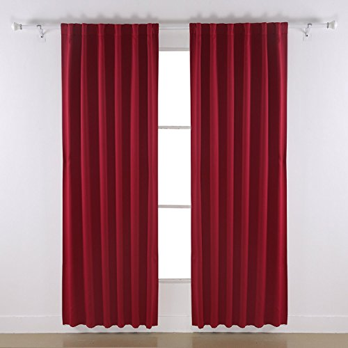 Deconovo Rod Pocket Curtains Solid Color Thermal Insulated