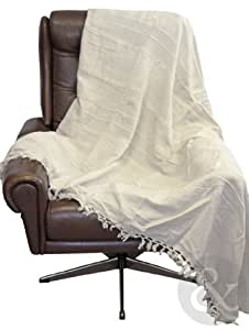 100 Cotton Throws Extra Large Luxury Thermal