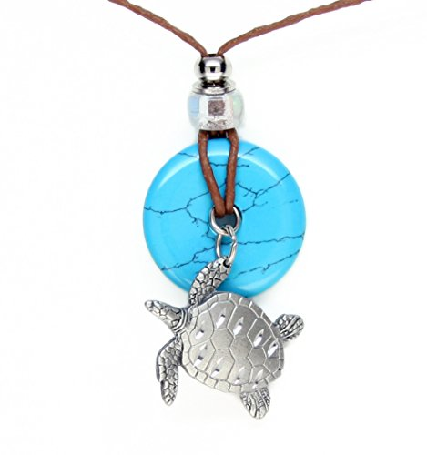 Earth Reflections Diamond Cut Pendant Necklace - Turtle