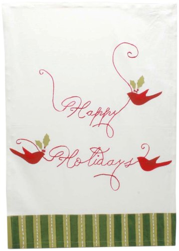 Tag Happy Holidays Vintage Dishtowel