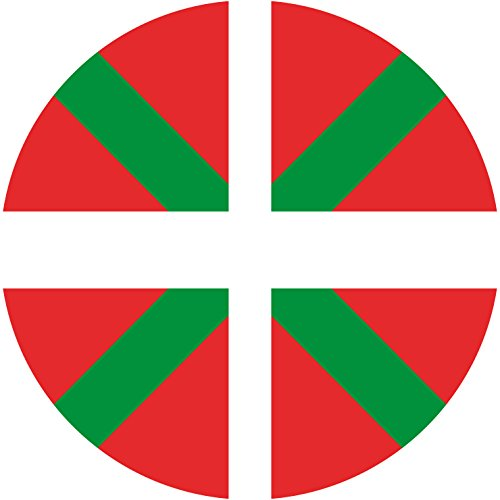5-Stickers-ROND-67mm-Drapeau-Flag-Pays-Basque