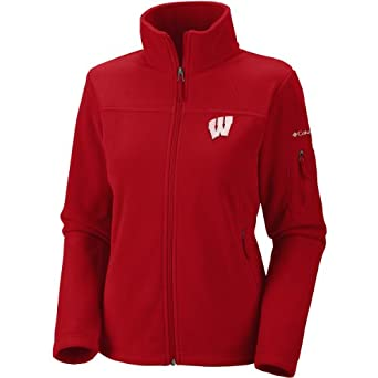 NCAA Wisconsin Badgers Ladies Give and Go FZ T-Shirt by Columbia