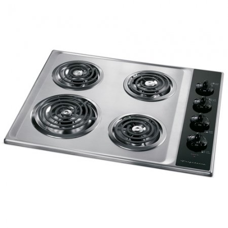 """Frigidaire Ffec2605Ls 26"""" Stainless Steel Electric Coil Cooktop"""