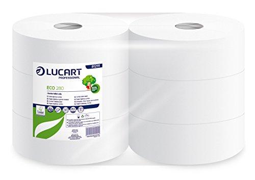 lucart-professional-812111-lot-de-6-rouleaux-de-papier-toilette-en-jumbo-280-m-eco-280