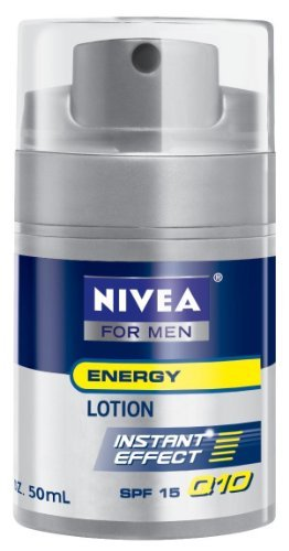 Nivea for Men Face Care Energy Lotion Q10, SPF15 1.7 Fluid Ounces (Pack of 3)