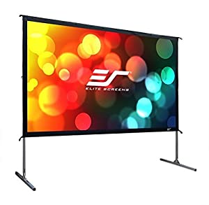 Elite Screens Yard Master 2, 110-inch 16:9, Foldable Outdoor Front Projection Movie Projector Screen, OMS110H2