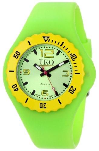 TKO ORLOGI Women's TK595GR Beach Lightweight Green Rubber Watch