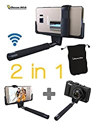 Selfie Stick with Remote for Cell Phone | Mirror & Bluetooth & Selfie Flash App & Secure Grip | iPhone 6 Plus, Iphone 6 Galaxy S5 POV Pole Camera Shooting with Shutter Button Handheld Monopod