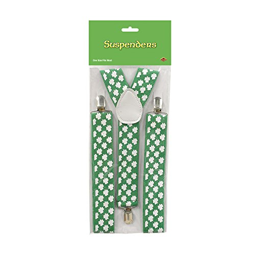 Beistle 30804 Shamrock Suspenders
