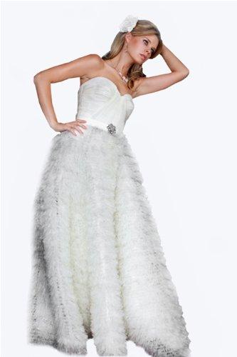 Jovani 141216, Strapless Chiffon Prom Dress
