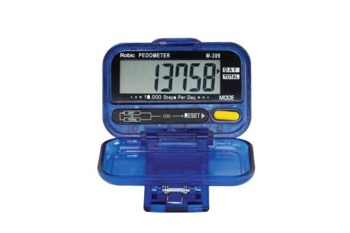 Cheap Robic Pedometer Total Daily Step Counter with Auto On/Off (B0062TO2HK)