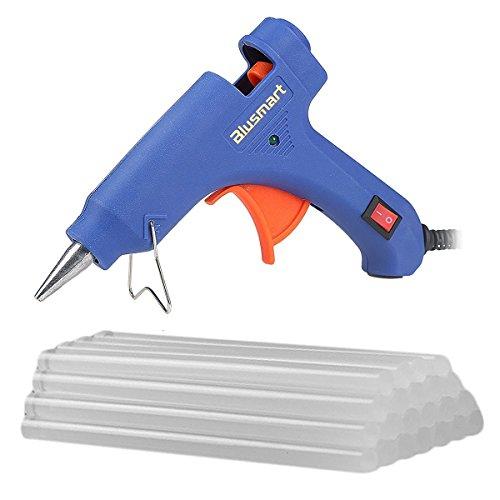 blusmart-mini-hot-glue-gun-with-25-pieces-melt-glue-sticks-20-watts-blue-dual-temperature-glue-gun-f