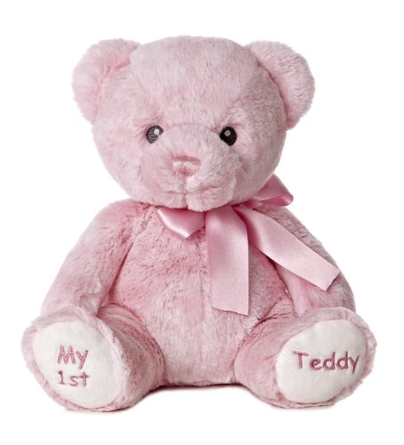 Aurora-World-Baby-My-1st-Teddy-Bear-Plush-Pink-12-Tall