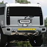 Hummer H2 Rear Bumper Letters Insert, Yellow