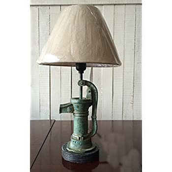 Vintage style Mock Water Pump Lamp Table lamps with shade