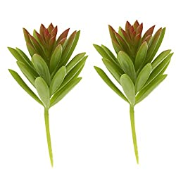 Imported 2pcs Artificial Succulent Snowdrop Foliage Plastic Plant Home Decor Green