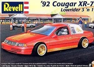 Amazon.com: '92 Cougar XR-7 Lowrider 3 'n 1 by Revell: Toys & Games
