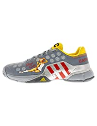 Men`s Barricade 2015 Lucky Lady Tennis Shoes Light Gray and Scarlet