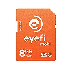 Eye-Fi Mobi 8GB SDHC Class 10 Wireless Memory Card with 90-day Eye-Fi Cloud Service to Deliver Camera