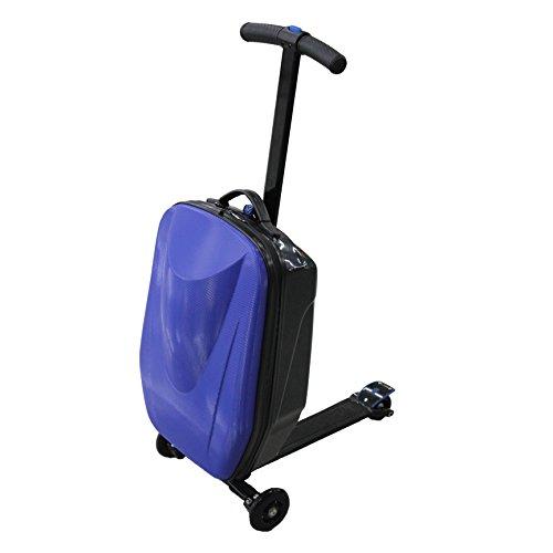 キックボード搭載型 高機能スーツケース 26L (ブラック)