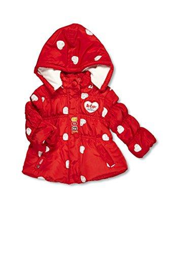 Lee Cooper-Parka con cappuccio per neonato, da femminuccia Rosso rosso
