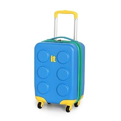 it luggage blue cabin 47cm kids buliding block suitcase. Black Bedroom Furniture Sets. Home Design Ideas