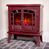 Duraflame 750 Cranberry Electric Fireplace Stove with Remote Control - DFS-750-14