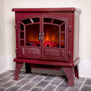 Duraflame 750 Cranberry Electric Fireplace Stove with Remote Control - DFS-750-14 image B00GMKXCLQ.jpg