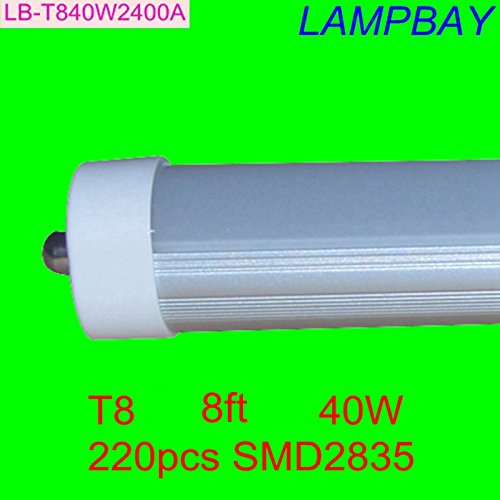 50pcs/lot Free Shipping LED Tube 8ft 85-265v