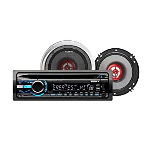 Sony CXS-GT5416F Bundle with CDX-GT540UI MP3/WMA/AAC/CD Player Receiver and XS-GF1622X 6.5-Inch Speakers