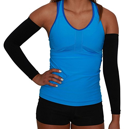 Compression Arm Sleeves - Golf Sun UV Protection - Cycling Arm Warmer - Baseball Sleeve - Basketball Shooter Arm...