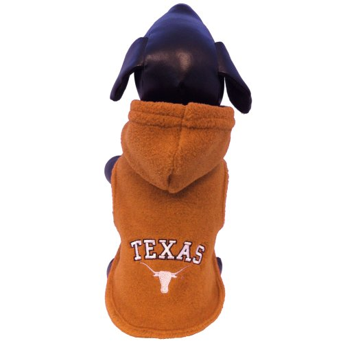 NCAA Texas Longhorns Polar Fleece Hooded Dog Jacket, Small at Amazon.com
