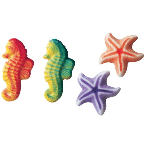 12 Count Sea Creatures Assorted Dec-ons