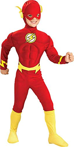 boys - Flash Deluxe Muscle Lg Halloween Costume - Child Large