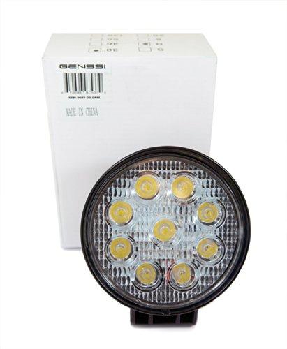 Genssi Led Off Road Light 4X4 Work Light Waterproof 27W 12V 6000K (30 Degree Spot)
