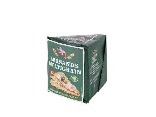 Leksands Multigrain Triangle Crispbread 190 g (Pack of 4)